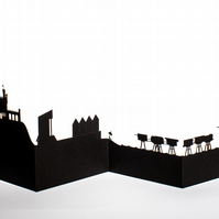 Whitstable Cityscape, Silhouette, Skyline Card