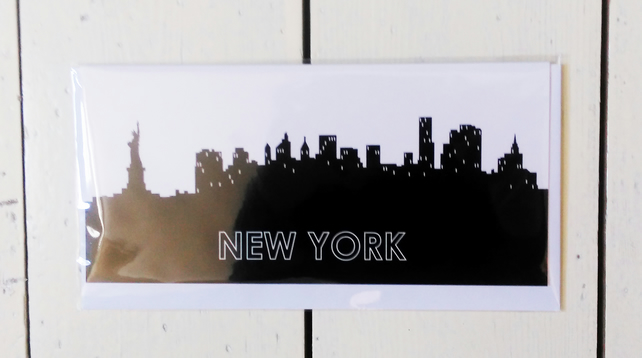 New York Cityscape Greetings Card
