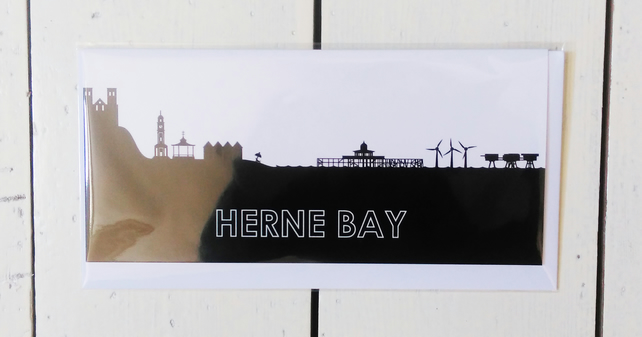 Herne Bay Cityscape Greetings Card