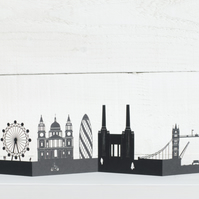 London 3D Cityscape, Silhouette, Skyline Card