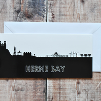 Herne Bay Cityscape Printed Greetings Card