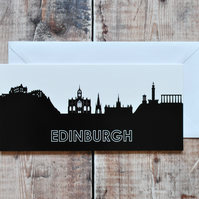 Edinburgh Cityscape Greetings Card