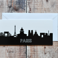 Paris Cityscape Greetings Card