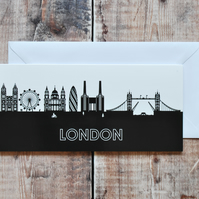 London Cityscape Greetings Card