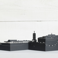 Deal 3D Cityscape, Silhouette, Skyline Card