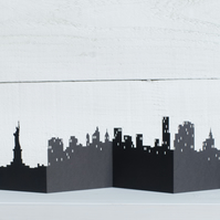 New York 3D Cityscape, Silhouette, Skyline Card