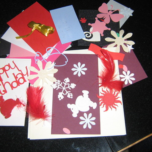 Hand made card craft kits for children or adults folksy for Craft kits for adults to make