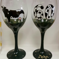Bespoke Personalised  Hand Painted Glass