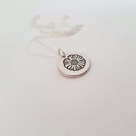 Sterling Silver Daisy Pendant - Nature Inspired Jewellery