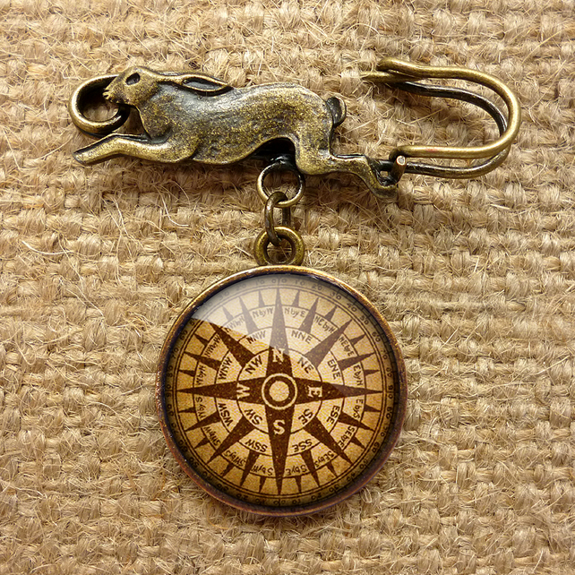 Compass No.1 Hare Pin Brooch (DJ03)