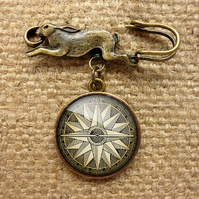 Compass No.2 Hare Pin Brooch (DJ07)