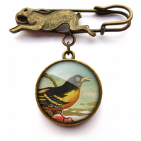 Affable Bird Hare Pin Brooch (TB03)