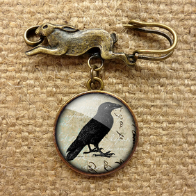 Raven No.1 Hare Pin Brooch (RR01)