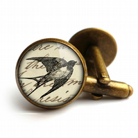 Vintage Swallow Cufflinks (ER05)