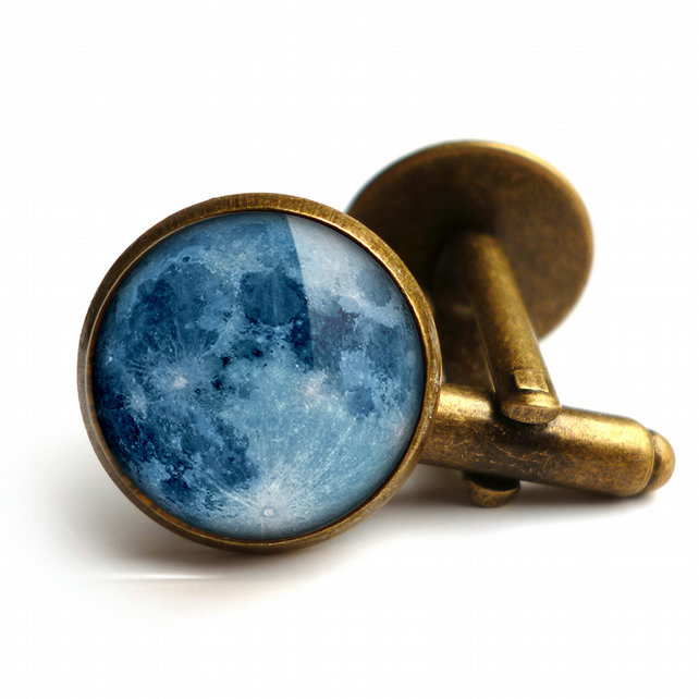 Blue Moon Cufflinks (ER10)