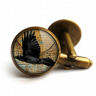 Raven In Flight Cufflinks (RR03)