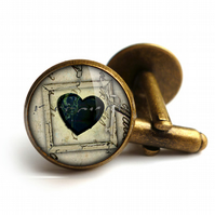 Black Heart No.1 Cufflinks (RR04)