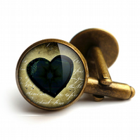 Black Heart No.2 Cufflinks (RR10)