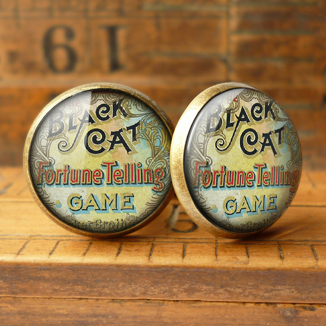 Black Cat Cufflinks (DJ05)
