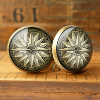 Compass No.2 Cufflinks (DJ07)