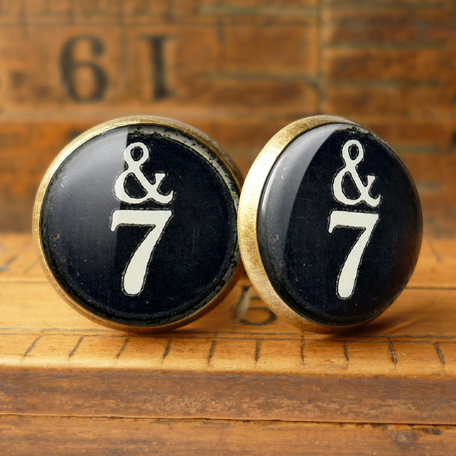 &7 Typewriter Key Cufflinks (DJ01)