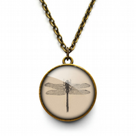 Vintage Dragonfly Necklace (ER03)