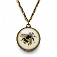Vintage Bee Necklace (ER04)