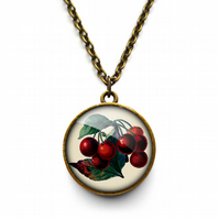 Vintage Cherries Necklace (ER02)