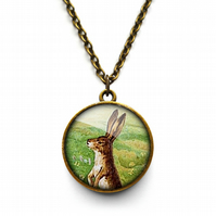Vintage Hare Necklace (ER08)