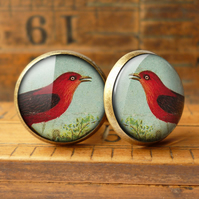 Red Bird Cufflinks (TB06)