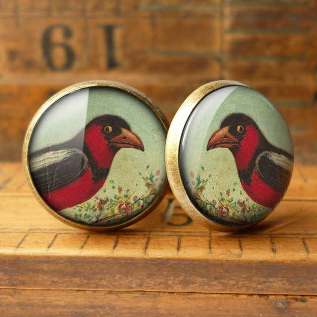 Disapproving Bird Cufflinks (TB09)