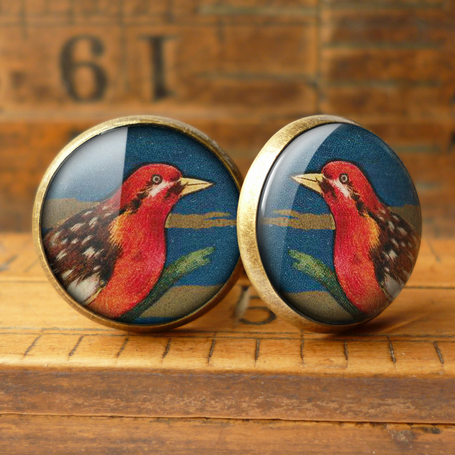 Crimson Bird Cufflinks (TB01)