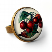 Vintage Cherries Ring (ER02)