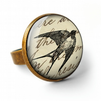 Vintage Swallow Ring (ER05)