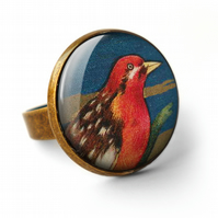 Crimson Bird Ring (TB01)