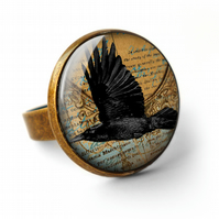 Raven In Flight Ring (RR03)