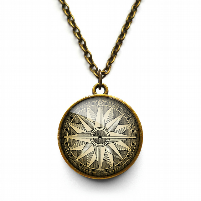 Compass No.2 Necklace (DJ07)