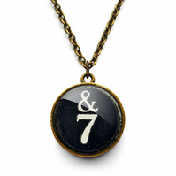 &7 Typewriter Key Necklace (DJ01)