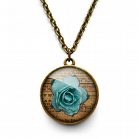 Blue Rose Necklace (RR02)