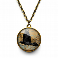 Raven In Flight Necklace (RR03)