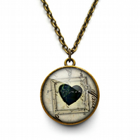 Black Heart No.1 Necklace (RR04)