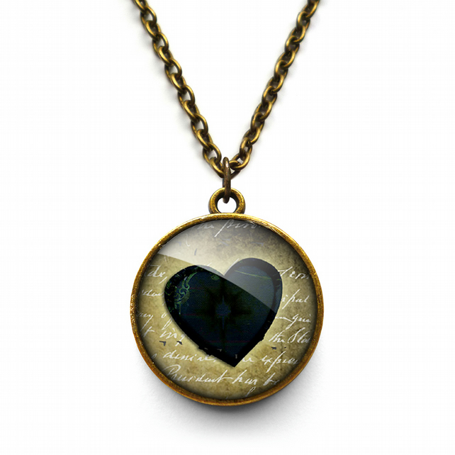 Black Heart No.2 Necklace (RR10)