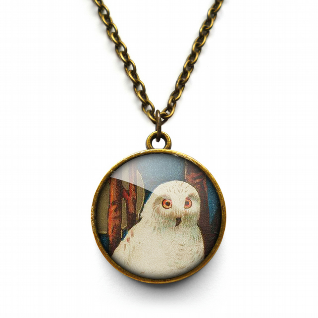 Snowy Owl Necklace (TB04)