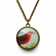 Red Bird Necklace (TB06)