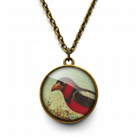 Disapproving Bird Necklace (TB09)