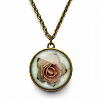 Pink Rose Necklace (RR08)