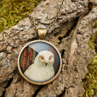 Snowy Owl Large Necklace (TB04)