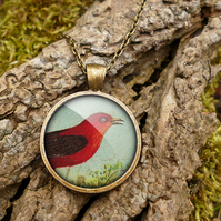 Red Bird Large Necklace (TB06)