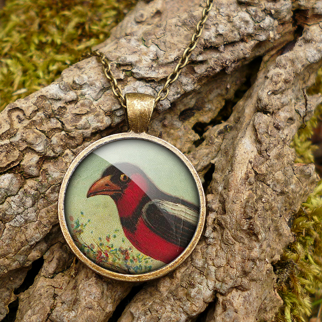 Disapproving Bird Large Necklace (TB09)