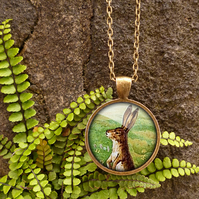 Vintage Hare Large Necklace (ER08)